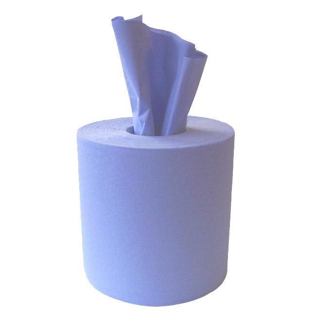 EMBOSSED BLUE CENTRE FEED ROLLS 6pk