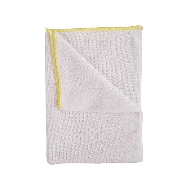 DISHCLOTH - YELLOW EDGE 10pk