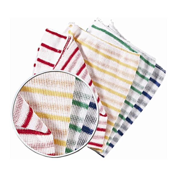 "DISHCLOTH 16""x12"" RED STRIPE 10pk"