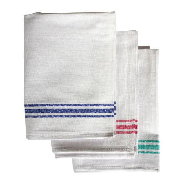 WHITE COTTON TEA TOWELS - 10pk