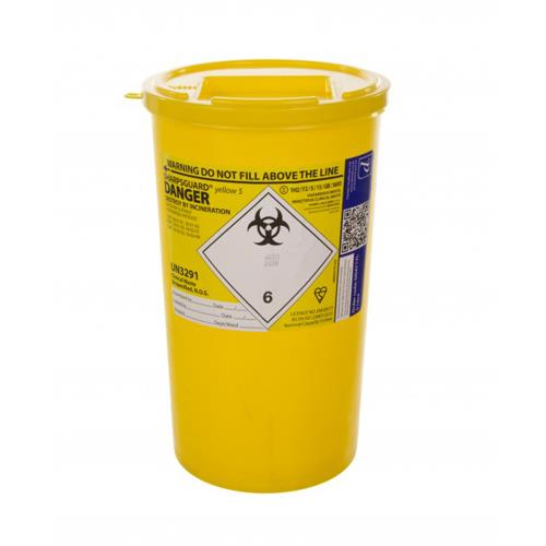 SHARPS BIN - Yellow 5lt