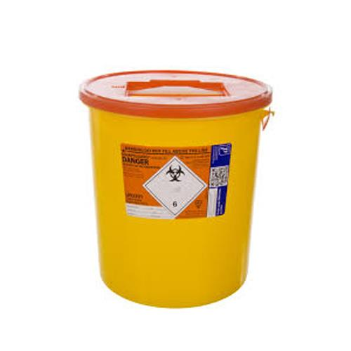 SHARPS BIN 22lt c/w Orange Lid