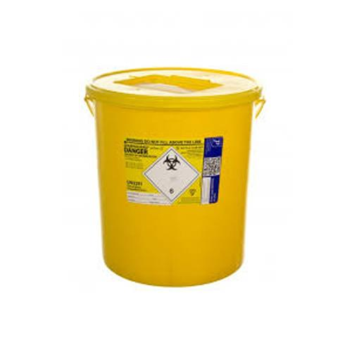 SHARPS BIN 22lt c/w Yellow Lid