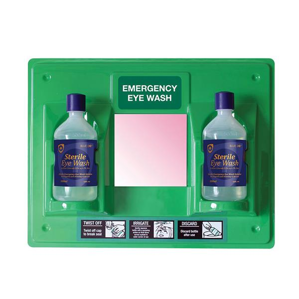 EYEWASH STATION c/w Mirror & 2 x 500ml
