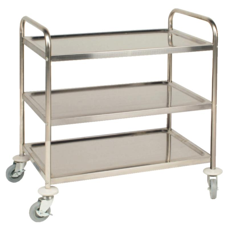 Stainless Steel Clearing Trolley - 3 Tier