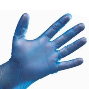 BLUE VINYL P/F GLOVES Medium - 100pk