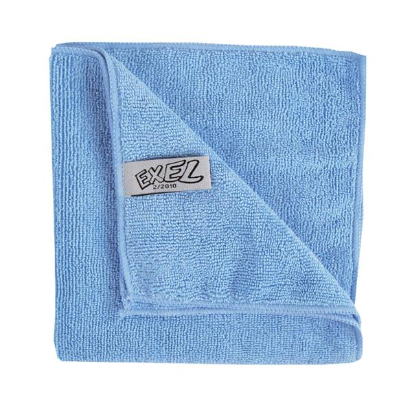 BLUE MICROFIBRE CLOTHS 10pk