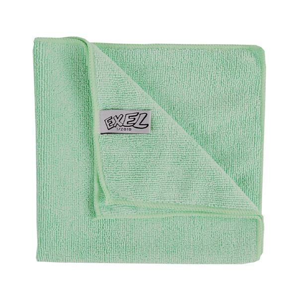 GREEN MICROFIBRE CLOTHS 10pk