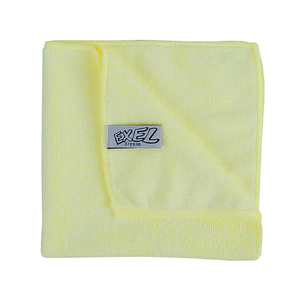 YELLOW MICROFIBRE CLOTHS 10pk